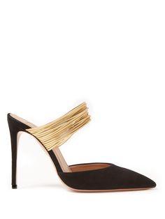72922dedbc1b Aquazzura Tequila 105 crystal-embellished leather sandals