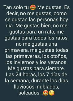 Tu s Spanish Quotes Love, Unconditional Love Quotes, Me Quotes, Funny Quotes, Reading Anchor Charts, Tumblr Love, Love Text, Quotes For Students, Love Messages
