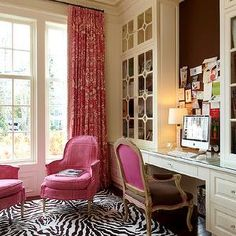 Wright Building Company - wonderful mix of color and pattern can really add life to a space