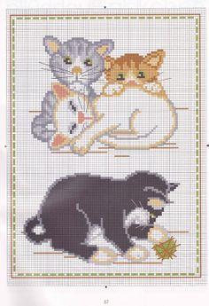 annCross stitch patterns- cat