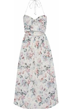 Shop on-sale Jasper cutout floral-print cotton-voile halterneck midi dress. Browse other discount designer Midi Dress & more luxury fashion pieces at THE OUTNET