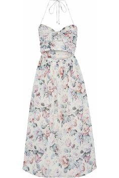 Shop on-sale Jasper cutout floral-print cotton-voile halterneck midi dress. Browse other discount designer Midi Dress & more luxury fashion pieces at THE OUTNET