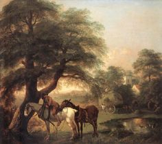 Thomas Gainsborough, Landscape with Peasant and Horses. See The Virtual Artist gallery: www.theartistobjective.com/gallery/index