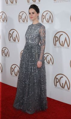 Felicity Jones in Valentino at the Producers Guild Awards