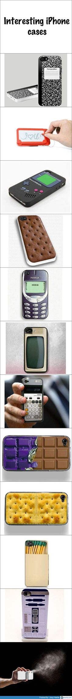 Coolest iPhone cases I know I don't even have a phone but these are still REALLY cool!