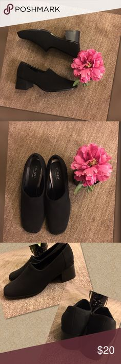 Villager by Liz Claiborne Liz Claiborne Villager shoes great for work. Worn maybe twice, fabric for material. Great condition Liz Claiborne Shoes Heels