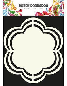 Flower - Shape Art - Stencil - Template - Dutch Doobadoo - Die Cut Decorative Shapes Without A Machine - Trace and Cut Scrapbook Frames, Scrapbook Templates, Silhouette Frames, Card Making Templates, Applique Quilt Patterns, Reverse Applique, Shape Art, Silhouette Machine, Flower Shape