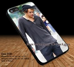 Harry Styles Wearing His Beanie iPhone 6s 6 6s  5c 5s Cases Samsung Galaxy s5 s6 Edge  NOTE 5 4 3 #music #1d DOP2146