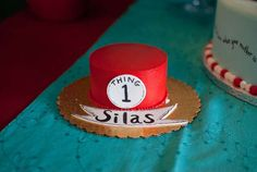 Thing 1 Thing 2 Twins First Birthday Party | CatchMyParty.com