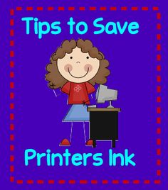 Tips to save printers ink