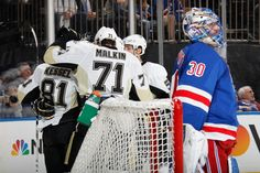 April 19, 2016 vs. New York Rangers (Round 1, Game 3): Sidney Crosby, Matt Cullen, and Kris Letang all scored to help the #Pens take a 2-1 series lead. Final score, 3-1 Penguins.