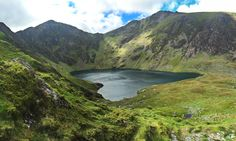 The Welsh say anyone who sleeps on top of the mountain comes down a poet, or a madman. Cader Idris, Wales.