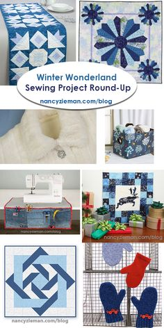Winter Wonderland Sewing Round Up Project Collection by Nancy Zieman Productions, LLC