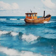 Small wooden fisher boat on sea near Usedom, German-Polish. Small wooden fisher boat on sea near Usedom, German-Polish… Stock Imagery, Sail Away, Julia, Beach Art, Great View, Fishing Boats, Beautiful World, My Images, Lighthouse