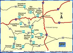 Map of Colorado Hots springs locations. Also provides a nice list of the major springs on this page.