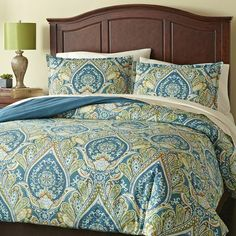 Royal Peacock Bedding - Seriously matches our bedroom PERFECTLY with all of our Pier 1 accents