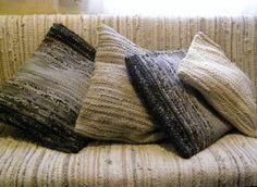 Handwoven rag rug decorative pillow MADE O ORDER от Gunaspalete