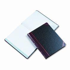 BOORUM & PEASE Columnar Book, Quadrille Rule, Black, 300 Pages, 10-3/8 x 8-1/8