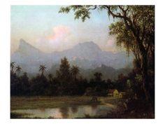 Rio De Janeiro, Brazil, C.1865 (Oil on Board) Giclee Print by Martin Johnson Heade at Art.com