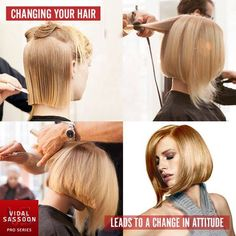 Hair styles change the way you see yourself and how others see you. Go bold with a blonde bob cut or a short hairstyle.