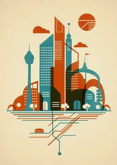 """""""From the Subway to the Sky"""" Art Print by Jay Fleck on Society6."""