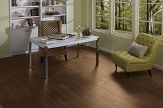 This Wood Look Plank Is Great For Any Busy Home Office | Floor Tile | Home