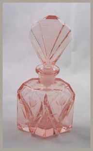 -antique Czech perfume bottle