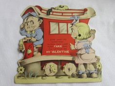 "A streetcar named desire? From the 1920s. ""I sure want me something with this line. Play fare and I'll letcha be my valentine."" #vintage #valentine #fun #couple #cute #adorable  check out the full article at http://inondate.ie/fun/vintage-valentines-cards/"