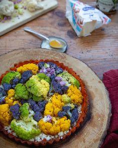 paprika tart with roasted honey cauliflower Honey Cauliflower, Avocado Toast, Roast, Vegetables, Cooking, Breakfast, Kitchen, Vegetarian, Salads