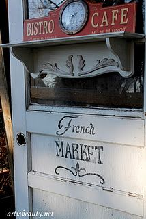 roadside rescue transformed to shabby chic french door shelf