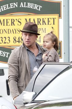 Channing Tatum & this little squish are too cute to even LOOK AT.