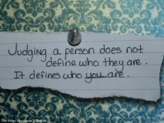 Love this... and it might be a good quote to share when dealing with prejudice or bullying.