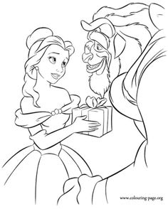 Beauty just give the beast with a beautiful gift. Have fun coloring this picture!