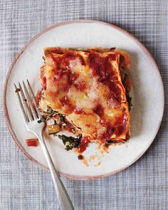 Swiss Chard Lasagna Recipe from Martha Stewart