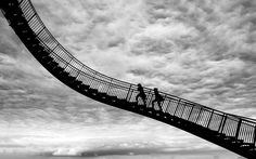 The chase by Jure Gubanc on Street Photography, Art Photography, Lewis Hine, Shadow Silhouette, City Streets, Great Pictures, Stairs, Fine Art, Black And White