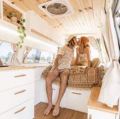 Vanlife with Celeste Callum – Salty Aura Van Conversion Interior, Camper Conversion, Bus Life, Camper Life, Camper Van, Auto Camping, Ducato Camper, Converted Vans, Kombi Home