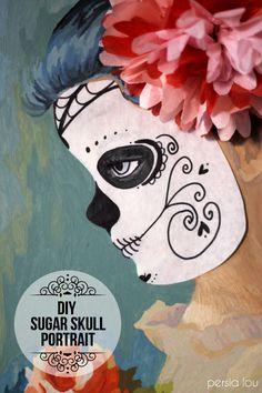 DIY Sugar Skull Portrait by Persia Lou