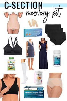 c section recovery kit - all the postpartum essentials that will help you heal! c-section recovery essentials Postpartum Care, Postpartum Recovery, Postpartum Outfits, Post C Section, C Section Belly, Repeat C Section, Scheduled C Section, Hospital Bag Essentials, High Waisted Briefs