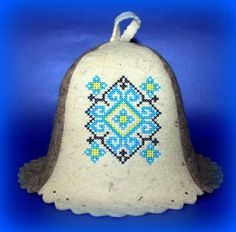 Hand FELT HAT SAUNA Hatte Embroidered Ukrainian by SaunaHat