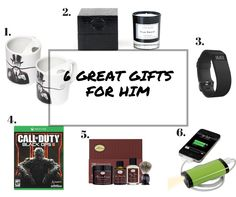 6 Great Gifts for Him  Gift giving is not easy, and finding a really cool gift is even harder. If you're looking for a great gift for a dad, boyfriend, or any special guy in your life you've come to the right place. Take a look at our top picks f...
