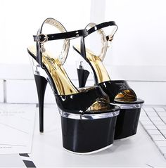 Sexy 15 Cm High-heeled Sandals Nightclub Dance Shoes Pole Dancing Shoes Model High Heels Womens Shoes Colours Are Striking Office & School Supplies