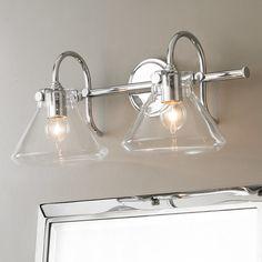 Beaker Glass Bath Light - 2 Light polished_chrome