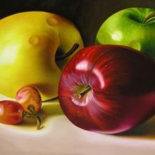 Dos uvas - Óleo sobre lienzo - 120x180