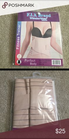 Waist fitness trainer cinch wrap soft slim waist Color nude. Size medium. Adjustable wrap to use when working out to create that hourglass shape. Willing to negotiate the price with offers. Accessories