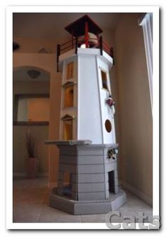An iconic item for any room. this Lighthouse provides #cats.