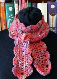 Love this scarf! One Skein Scarf from the Happy Hooker!