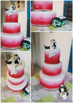 Air-Brush Hochzeitstorte Air-Brush Weddingcake  https://www.facebook.com/ChristinasCakeFactory/