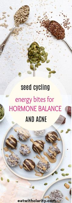 Seed Cycling Energy Bites Seed cycling for hormone balance is a safe and natural method of rotating seeds at different times of your menstrual cycle to support hormone production, detoxification, and elimination. Seed Cycling, Women's Cycling, Cycling Jerseys, Cycling Equipment, Hormone Diet, Hormone Imbalance, Balance Hormones Naturally, 1200 Calorie Diet, Recipes