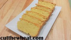Butter pound cake-- super moist, grain free, sugar free and low carb!