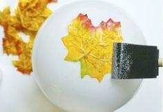Hazlo tú mismo: un cuenco con hojas secas de otoño